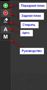 Инструменты удаления фона